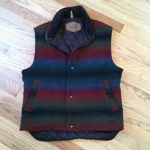 Vintage Woolrich Wool Indian Blanket Vest Aztec M